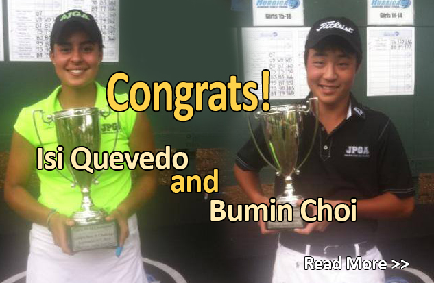 Congratulations to Isi Quevedo and Bumin Choi for Winning Hurricane Junior Golf Tour
